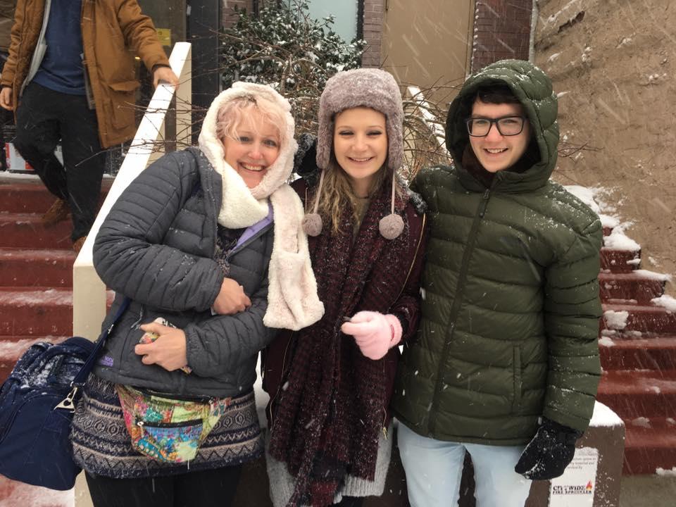 snow me, mum and josh