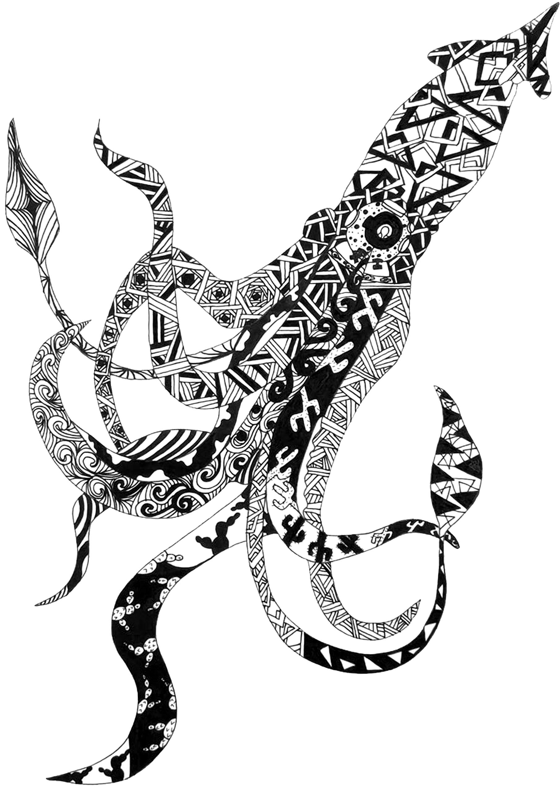 Black and White Dragonfly Artwork
