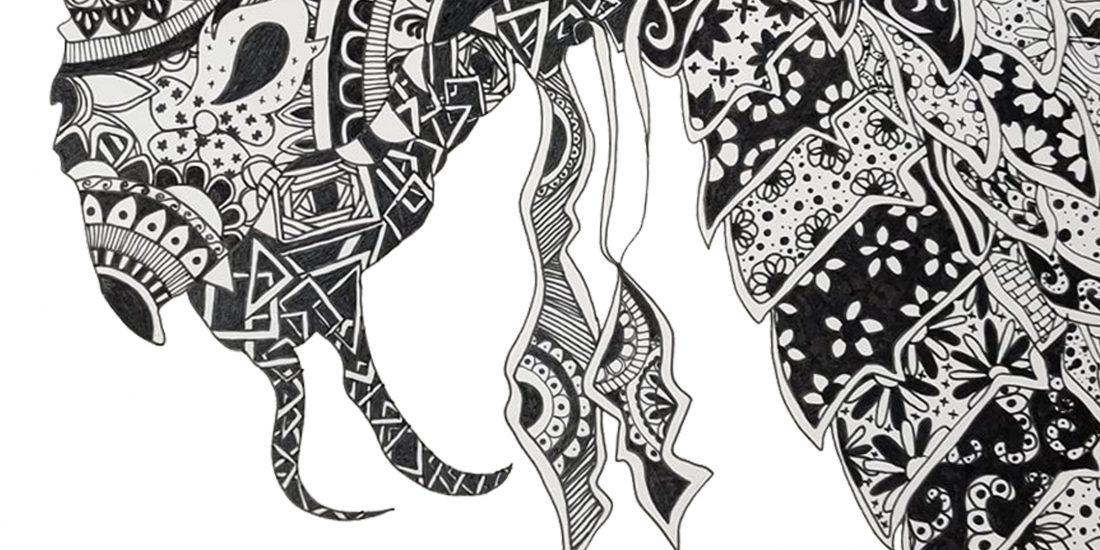 Black and White Artworks Drawings Pastel Art