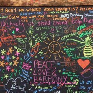 glastonbury chalk board