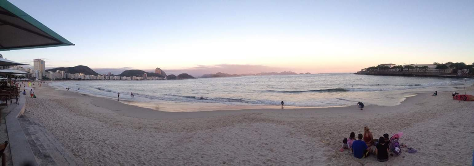 copacabana beach pano