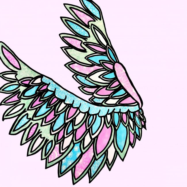 Pink and Blue Artwork