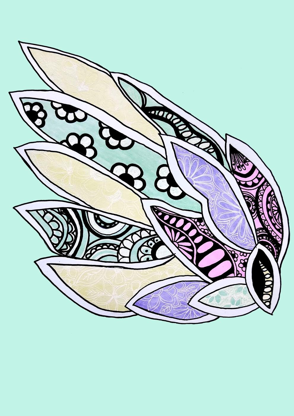 Pastel Artwork Sea Shell
