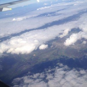 plane journey view