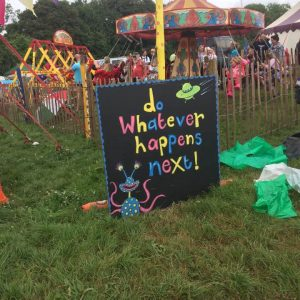 glastonbury festival signs