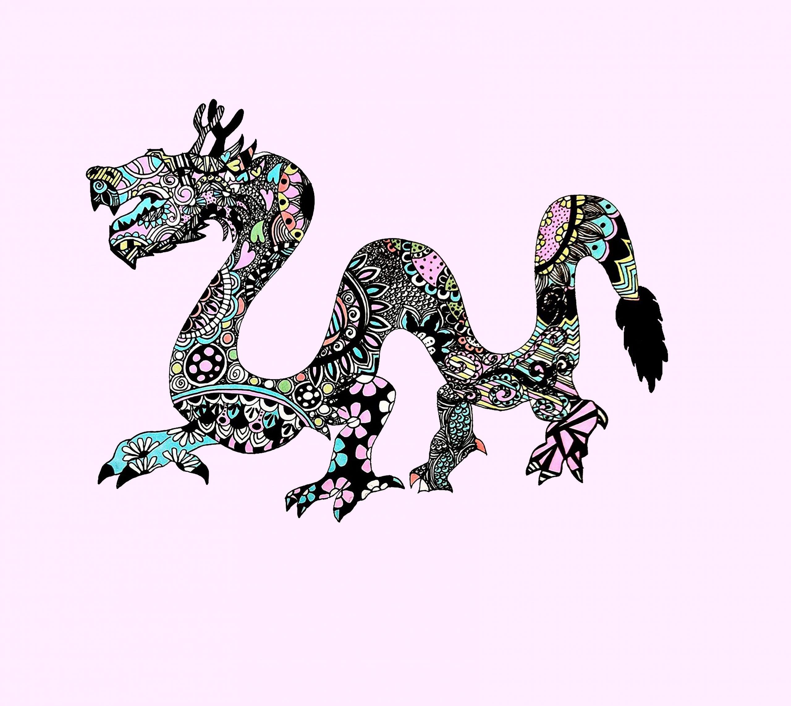 Dragon meggie pastel