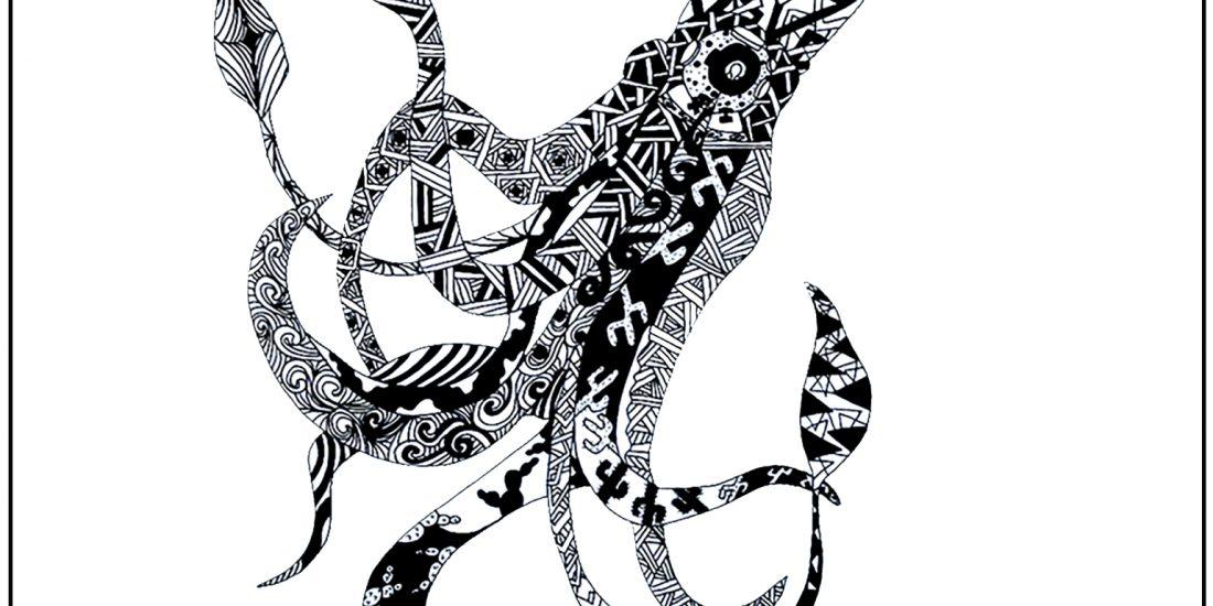 Wildlife Artwork Black and White