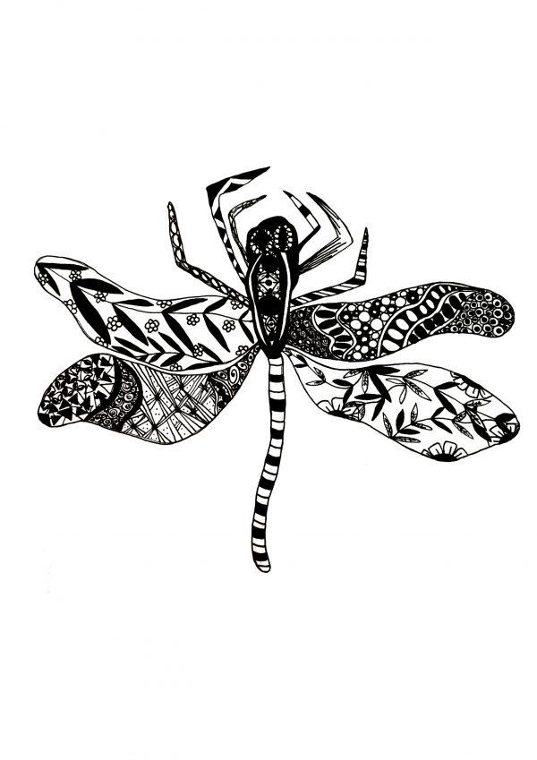 UK Artist Abbie Rose Black Ink Art