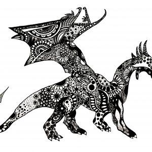 Black ink art UK Artist Abbie Rose