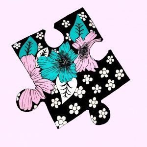 puzzle piece pink