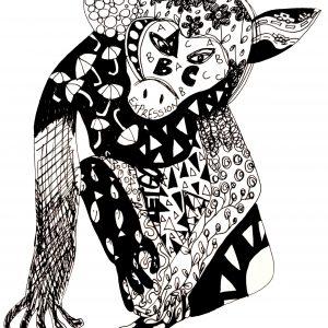 Black and White Artwork Abbie Rose