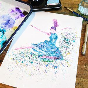 splash dancer watercolour art
