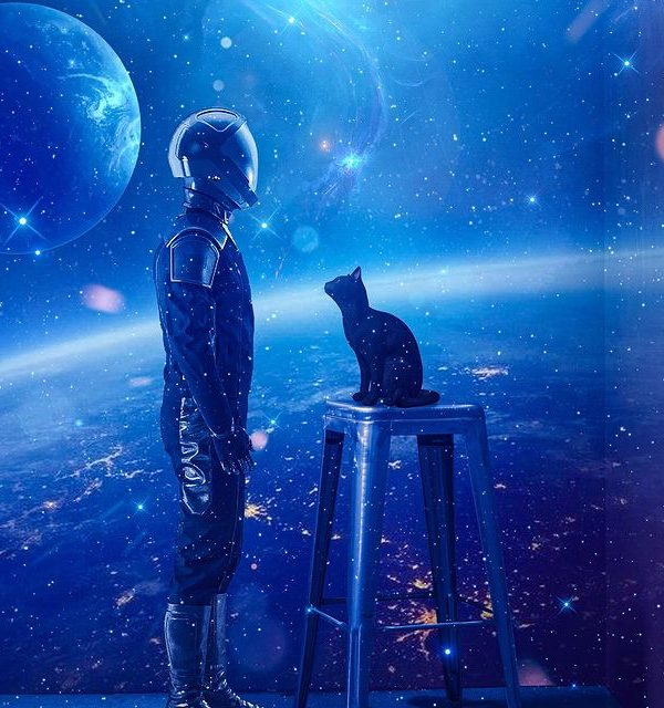 space animal digital art