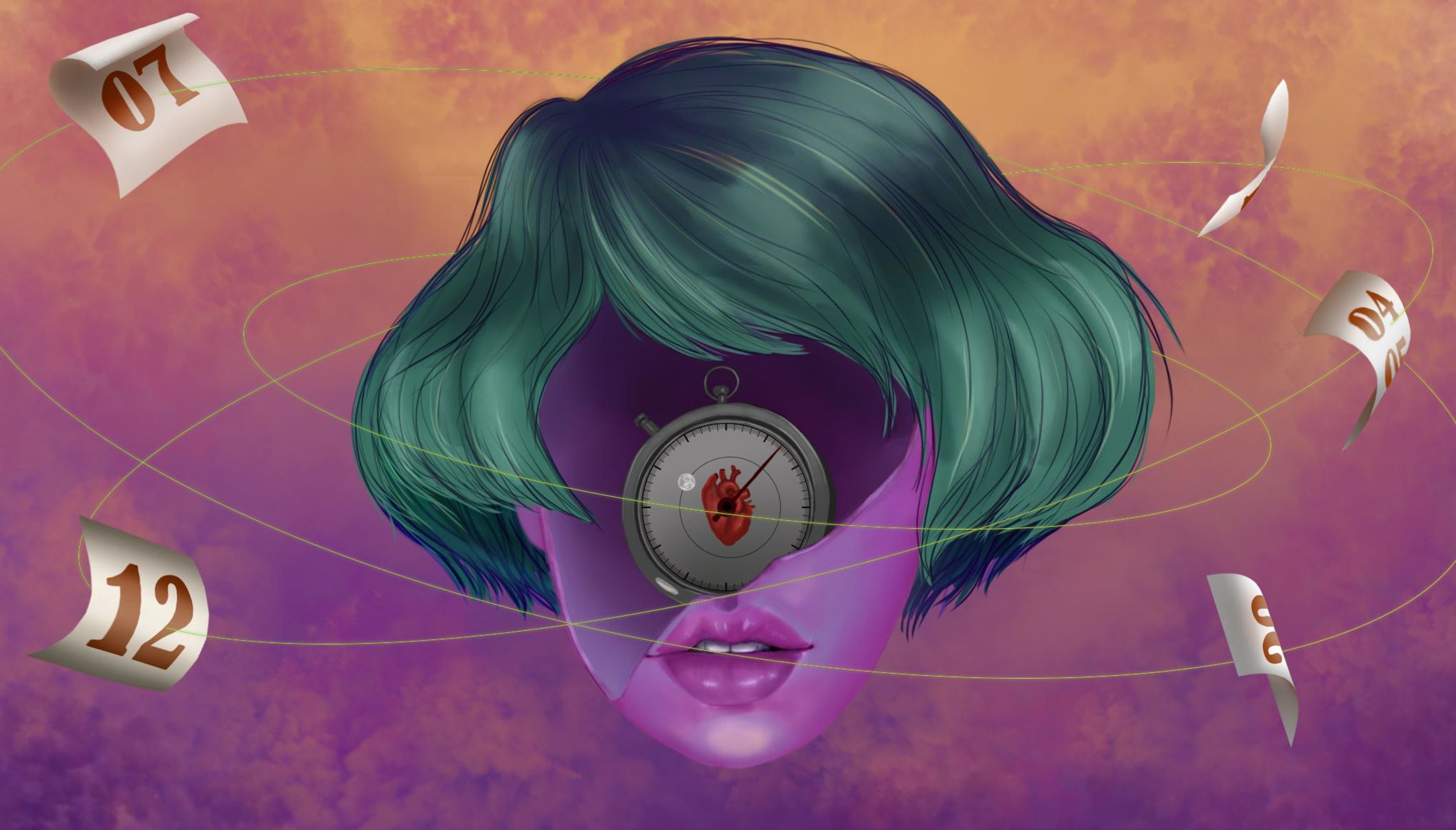 Digital art, colourful artwork
